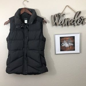 J. Crew Down Puffer Vest Grey Great Condition